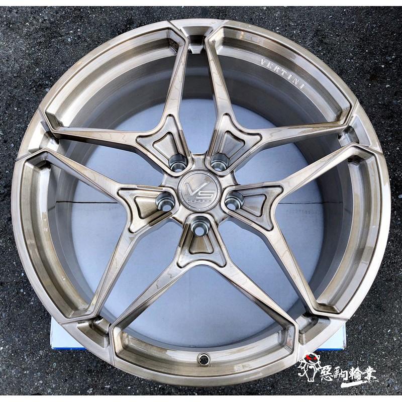 全新 VERTINI VS17 鍛造鋁圈 20吋 5孔114 100 112 108 120 130 銅金 另有 19吋