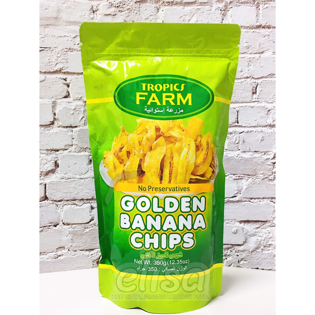 KRIPIK PISANG 香蕉脆片 TROPICS FARM BANANA CHIPS