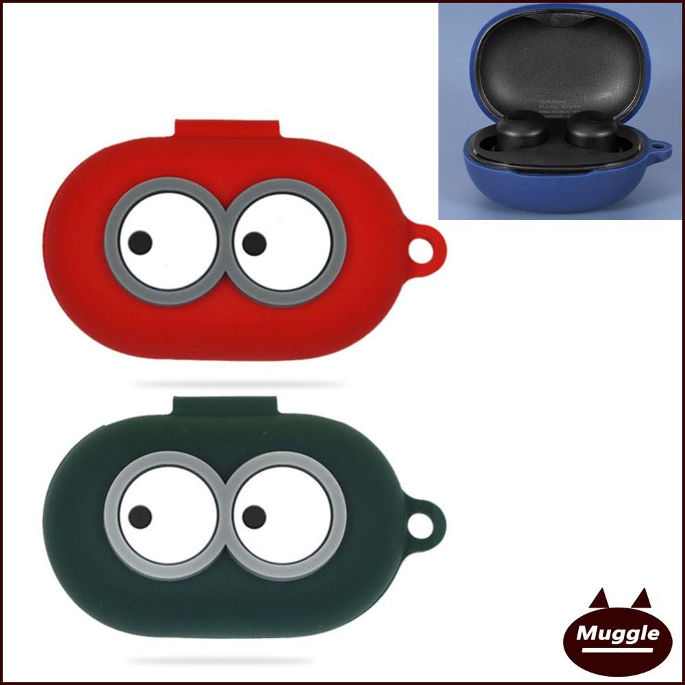 Realme Buds Q無線藍牙耳機果凍套 歸家套 大眼萌 防摔 Realme Buds Q保護殼 耳機套