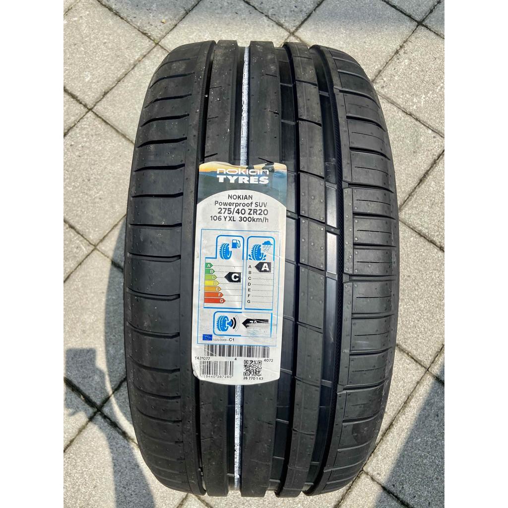 新北 小老闆輪胎 諾基亞 NOKIAN輪胎 275 /40 / 20 Powerproof SUV  歐洲製 優惠中