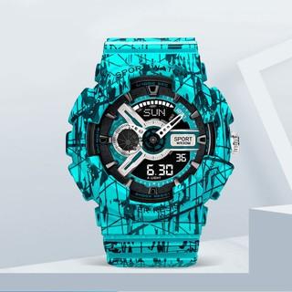 青青優品店 手錶男女 爆裂系列 卡西歐同款 數字+指針雙顯示 防水夜光 運動手錶 潮流手錶 高雄市