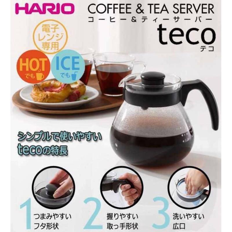 日本【HARIO】TECO冷熱兩用玻璃壺TC-100 1000ml