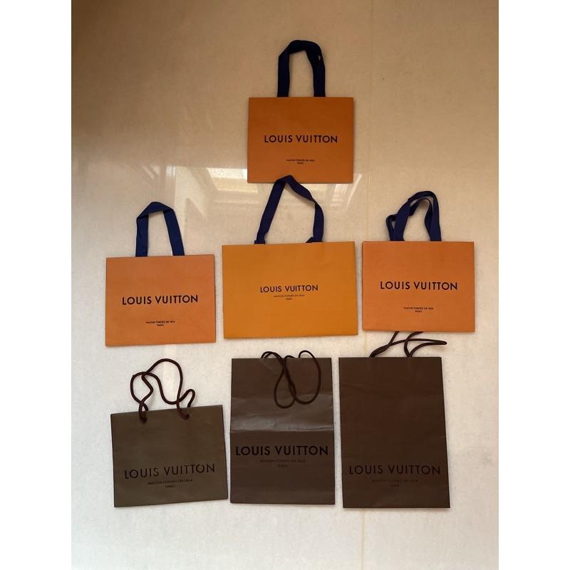 出倉❗️名牌紙袋 LV Louis Vuitton 小尺寸禮品袋 紙袋改造 DIY禮品袋改造 紙袋 專櫃紙袋 包裝袋