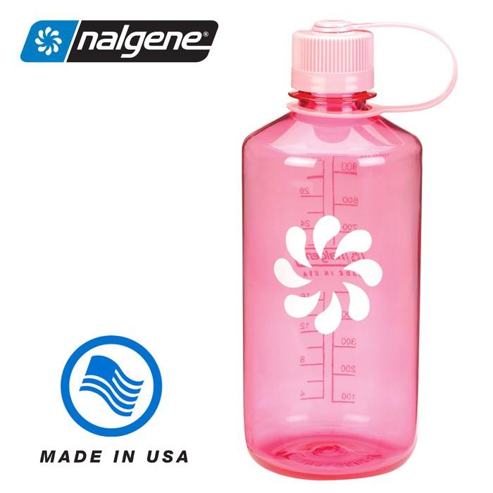 【Nalgene 美國】1000ml 窄口水壺 運動水壺 水瓶 隨身水壺 粉紅色 (2078-2029)
