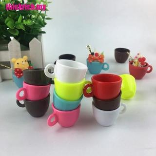 【 Thmy 】 5pcs 仿真迷你咖啡杯茶杯水杯牛奶杯食品玩 Acc