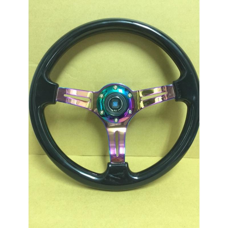 NARDI VIP風格小凹七彩色方向盤賽車方向盤FOCUS FORTIS馬3馬6E30E36ALTIS WISH GC8