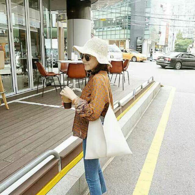 簡約百搭pu皮大容量單肩包女托特包韓版休閒購物逛街大包