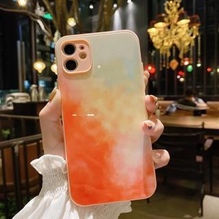 iPhone12 Pro Max 蘋果 手機殼 12Mini XS XR X 8 7 plus 水彩畫玻璃殼保護殼防摔殼 臺北市
