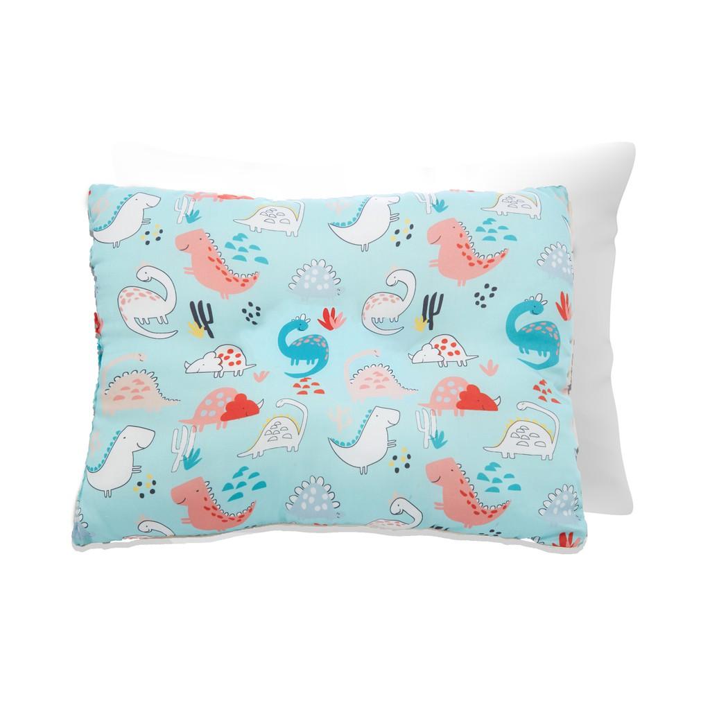 享居DOTDOT 兒童天絲枕頭枕套組(走走恐龍) 防螨抗菌 天絲表布 60支萊賽爾 舒適支撐(建議1歲以上)