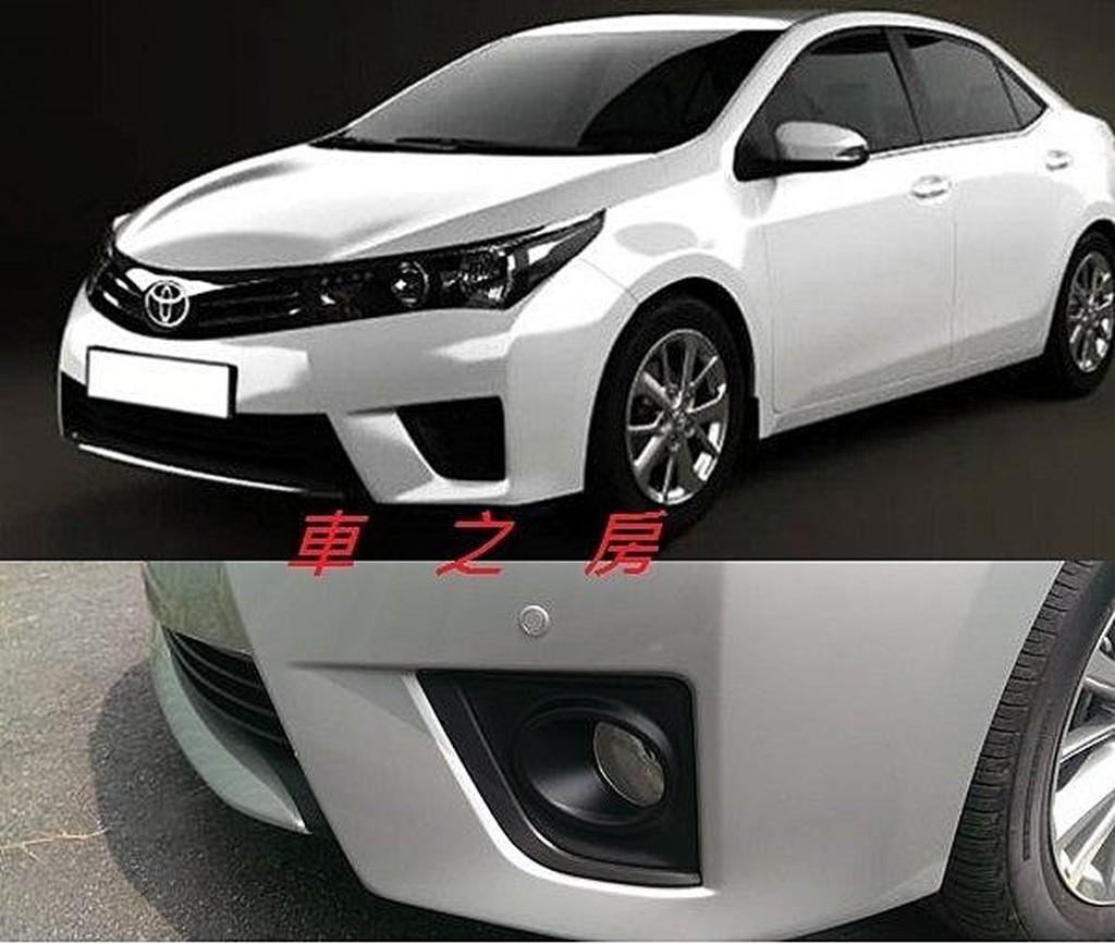 (車之房) TOYOTA 2014 ALTIS專用前停車雷達輔助系統 數位版更精準 11代