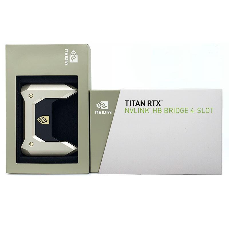 英偉達NVIDIA GEFORCE NVLINK TITAN RTX 顯卡 4-SLOT 橋接器