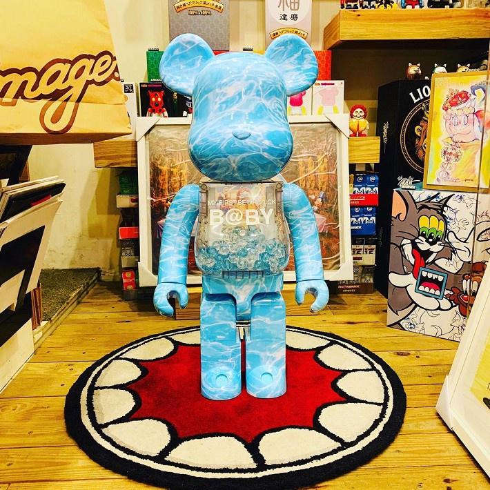 【阿旺的鋪子】Bearbrick400%1000%暴力熊積木熊水波紋千秋潮流桌面客廳擺件裝飾手辦 潮人玩具 庫柏力克熊