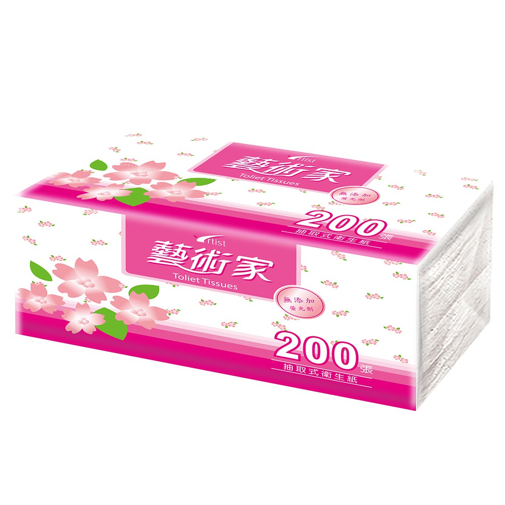 通過CNS標準 Artist藝術家花彩環保抽取式衛生紙100抽x8包x6袋/12包x4袋(200張48包)