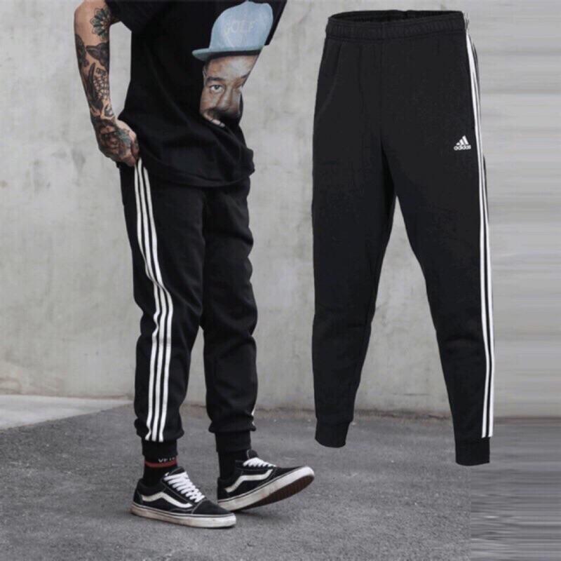 adidas sport 運動長褲 黑 縮口 BR3696 BK7396【Ting Store】
