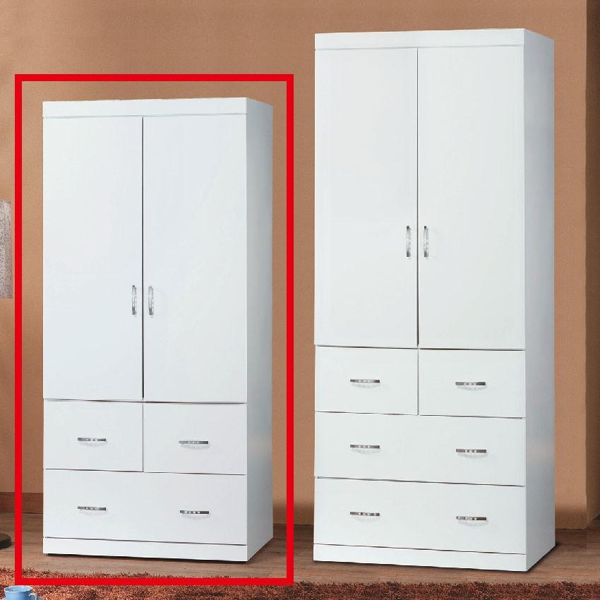 【82cm衣櫃-E202-7】木心板 推門滑門開門 衣服收納 免組裝 【金滿屋】
