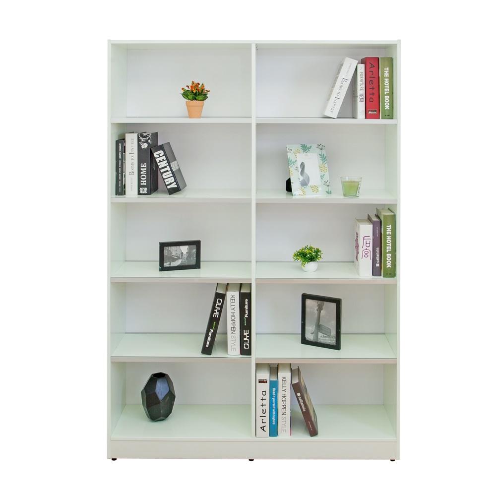【南亞塑鋼】JB系列-4尺開放式書櫃