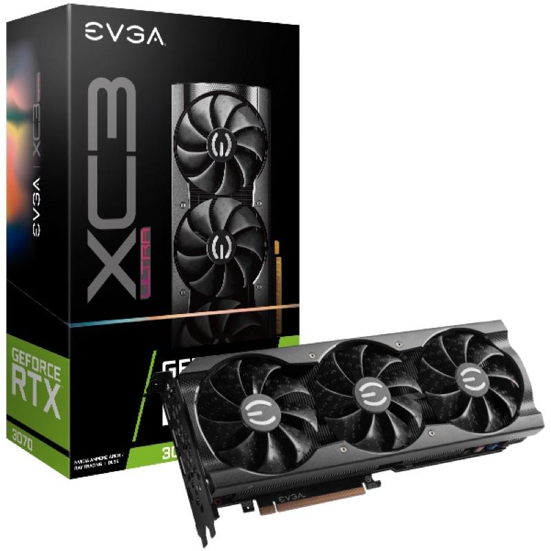 EVGA 3070 未鎖 EVGA GeForce RTX 3070 XC3 ULTRA 08G-P5-3755-KR