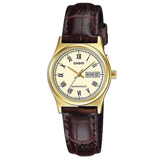 【時怪】CASIO 經典金英倫復古指針皮帶女錶-羅馬金面(LTP-V006GL-9B)台灣卡西歐保固一年 高雄市