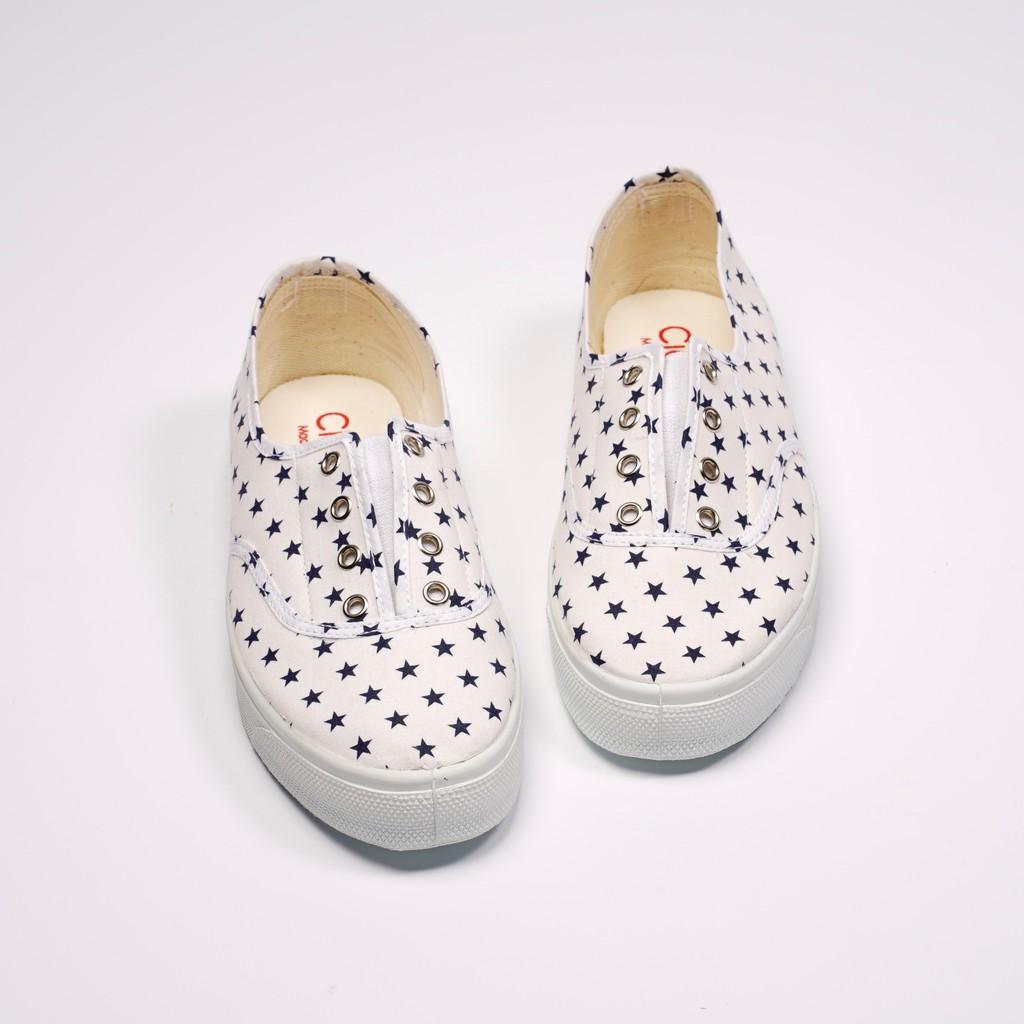 CIENTA 西班牙國民帆布鞋 10010 05 白色星星 經典布料 大人