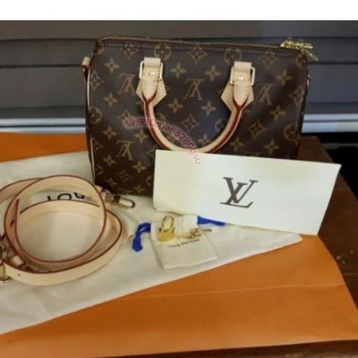 專櫃正品 LV 波士頓包 SPEEDY BANDOULIÈRE 25 附背帶 手提包 M41113枕頭包