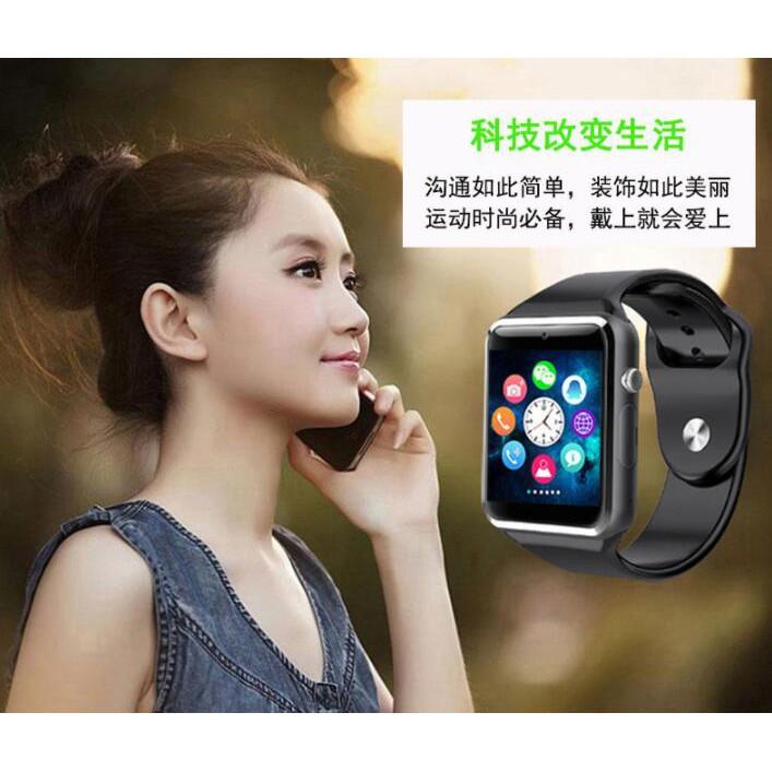 支援line通話!智慧手錶  智慧手環(NCC認證)iPhone 智慧腕錶A1 可插卡/拍照/藍芽通話/聽音樂