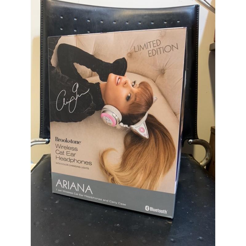貓耳耳機 Brookstone 無線 藍芽 有線 Ariana Grande 簽名版