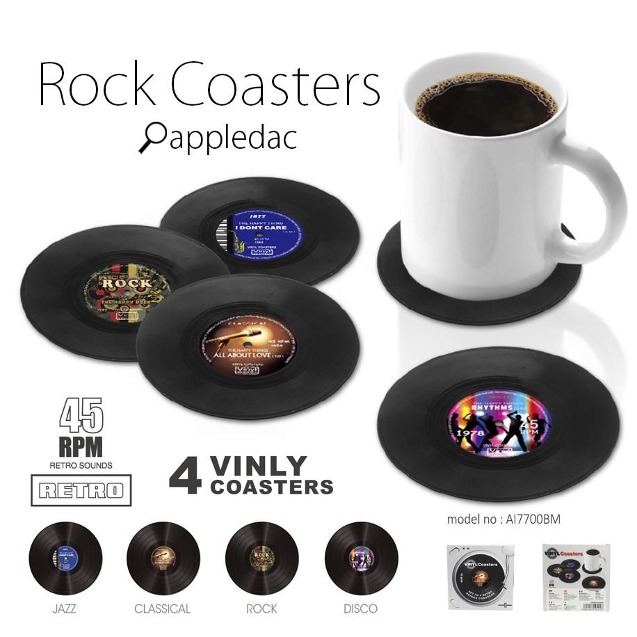 美式 搖滾 黑膠 唱片 杯墊 黑膠唱片 美國 鄉村 交換禮物 生日禮物 CD 復古
