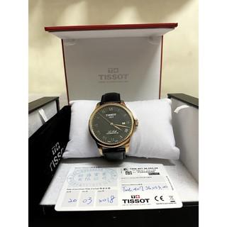[二手免運]天梭 Le Locle 80小時機械錶-黑x玫塊金框/ 39mm(T0064073605300) 高雄市
