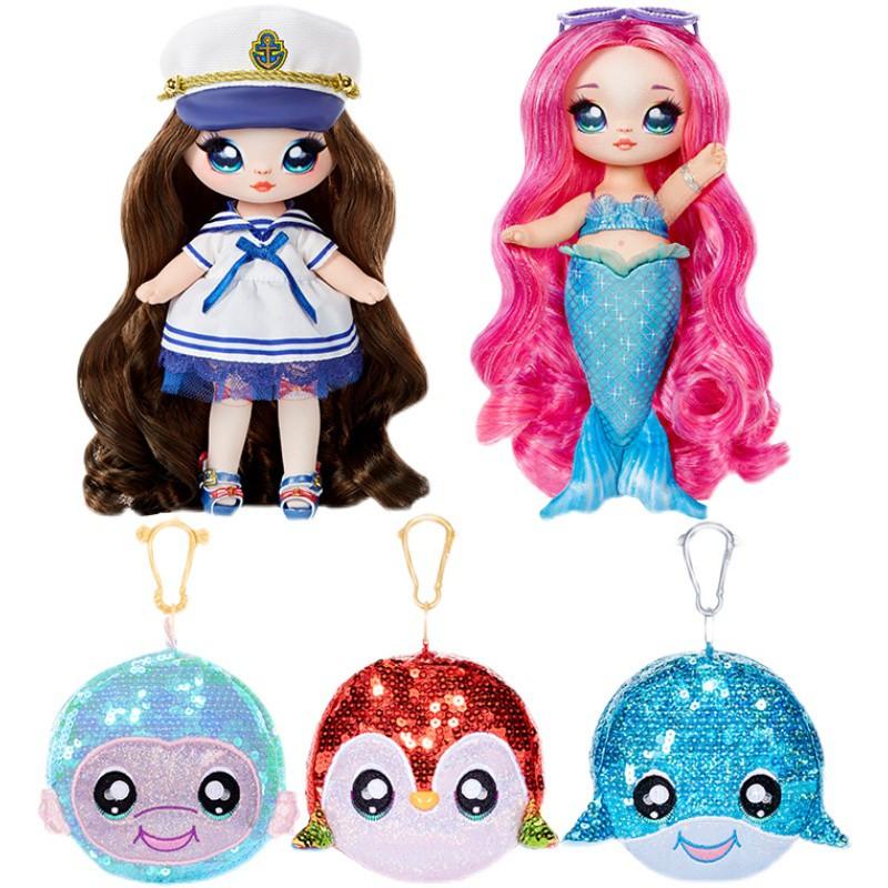【夏威夷】nanana驚喜娜娜娜女孩玩具閃亮1代可動美發佈娃娃亮片包玩具新款
