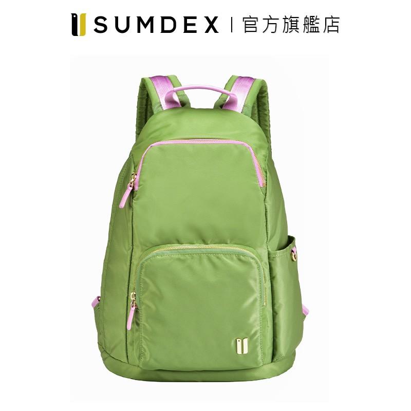Sumdex 輕簡防盜後開後背包 NOA-764LS 綠色 官方旗艦店