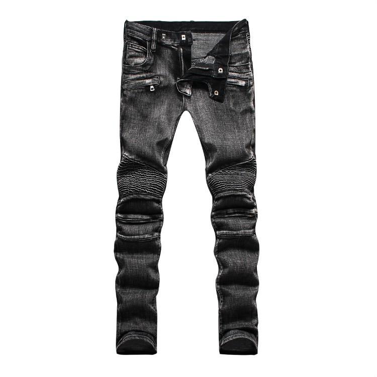 全新巴爾曼牛仔褲 BALMAIN褲子 牛仔長褲 歐美潮流時尚彈力小腳牛仔褲 型男修身工作長褲 丹寧牛仔褲 百搭機車牛仔褲