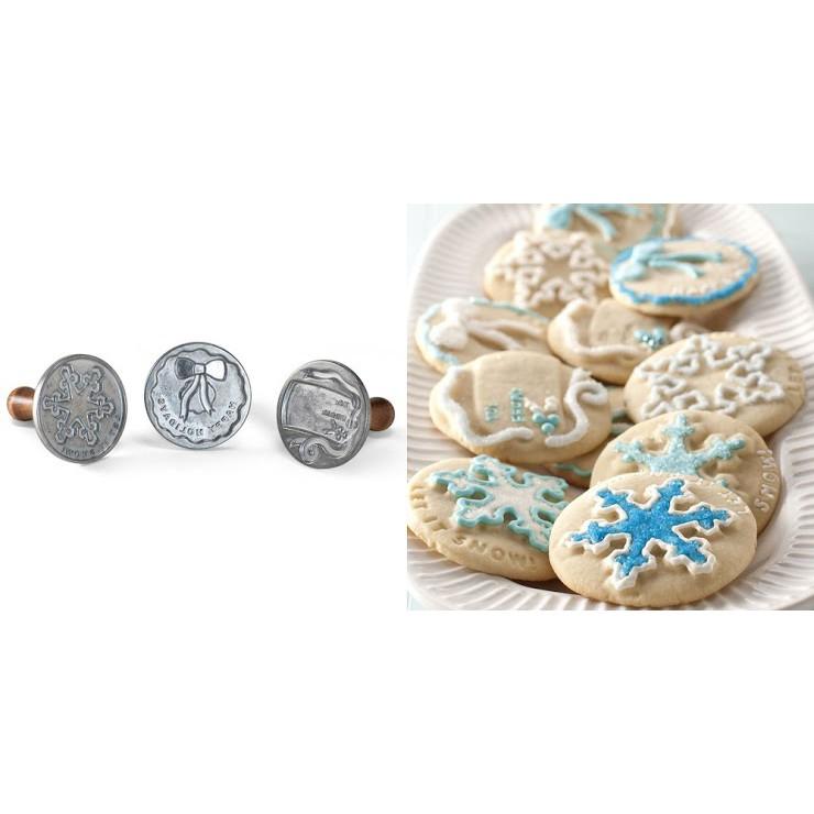 Nordic Ware 01335 節慶木柄餅乾壓模3件組 (雪花) 聖誕節 庫存出清