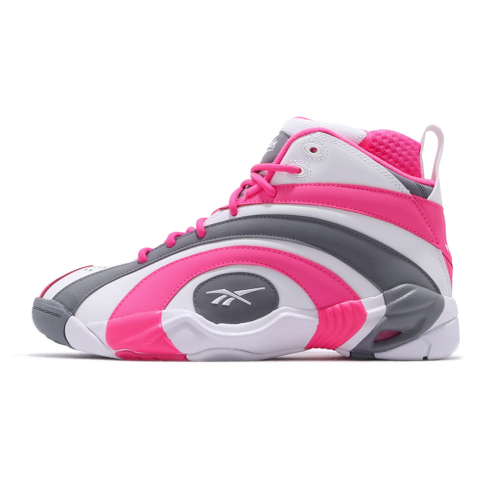 Reebok 籃球鞋 Shaqnosis 白 灰 粉紅 年輪鞋 男鞋 大歐 歐尼爾 男鞋 復刻款【ACS】 EF3074