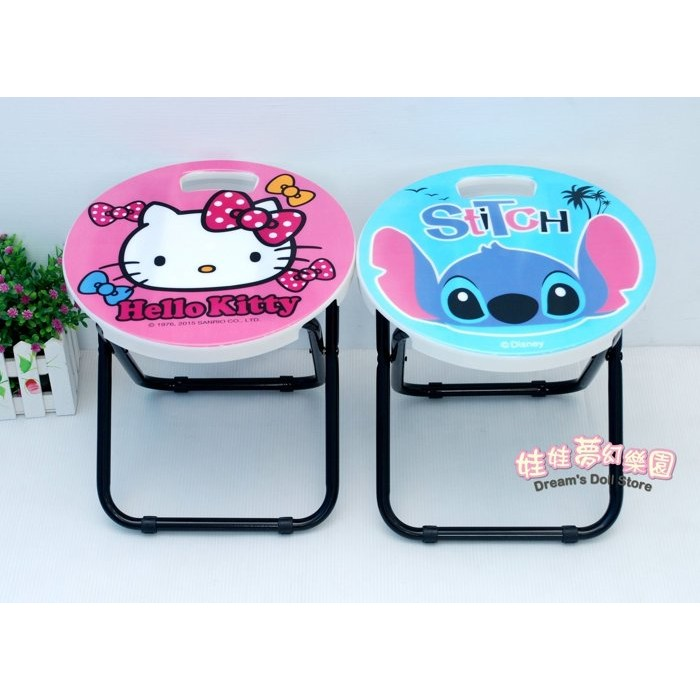 正版迪士尼摺疊椅~收納椅~史迪奇椅子~kitty折疊椅~兒童椅~露營椅~小熊維尼摺疊椅/米奇/史迪奇折疊椅