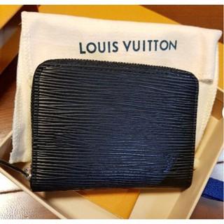 二手正品 Louis Vuitton LV M60152 黑色 EPI 水波紋 拉鍊零錢包 錢包 手拿包 短夾