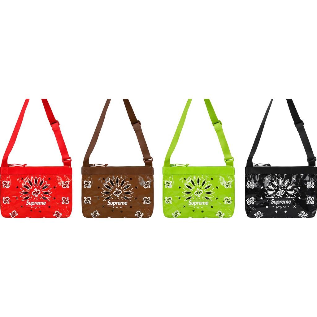 ☆AirRoom☆【現貨】2021SS Supreme Bandana Tarp Side Bag 變形蟲 小包