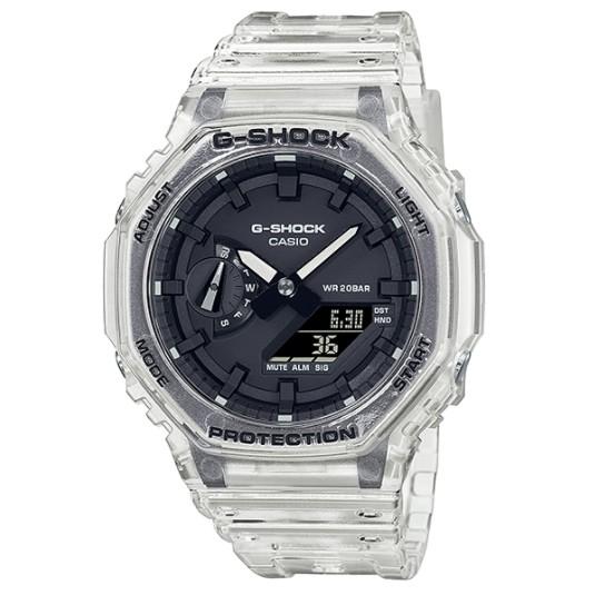 【奇異SHOPS】CASIO G-SHOCK 半透明系列雙顯腕錶 GA-2100SKE-7A