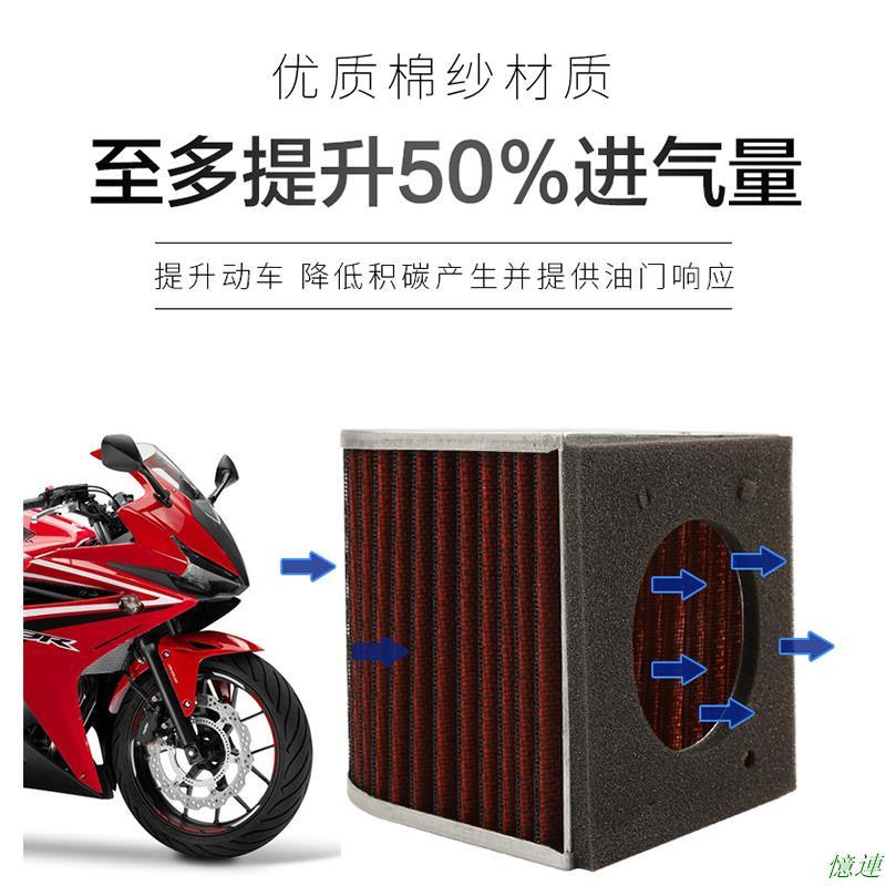 改裝高流量空濾本沺CB500F CBR500R CB500X濾清器空氣濾芯空氣格憶連