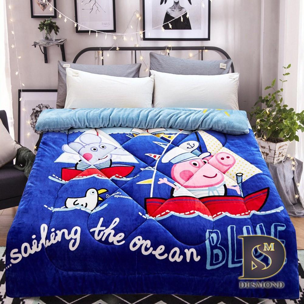 【岱思夢】海洋喬治 雙面激厚法蘭絨暖暖被 台灣製 毛毯 毯被 毯子 被子 棉被 [超取有出貨限制,詳請參閱內容說明]