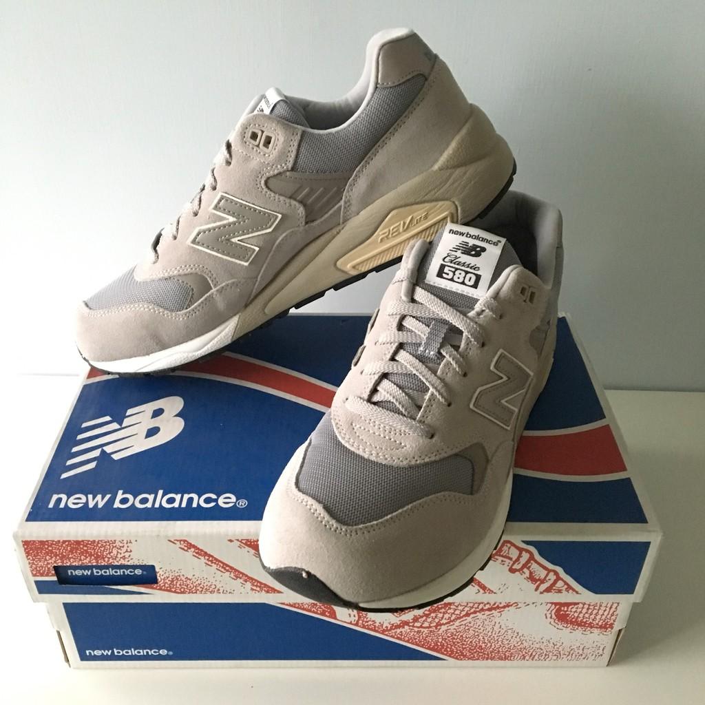 Fast Shop 24小時快速出貨 New Balance 580 情侶鞋 經典灰 麂皮 休閒鞋 MRT580GE D