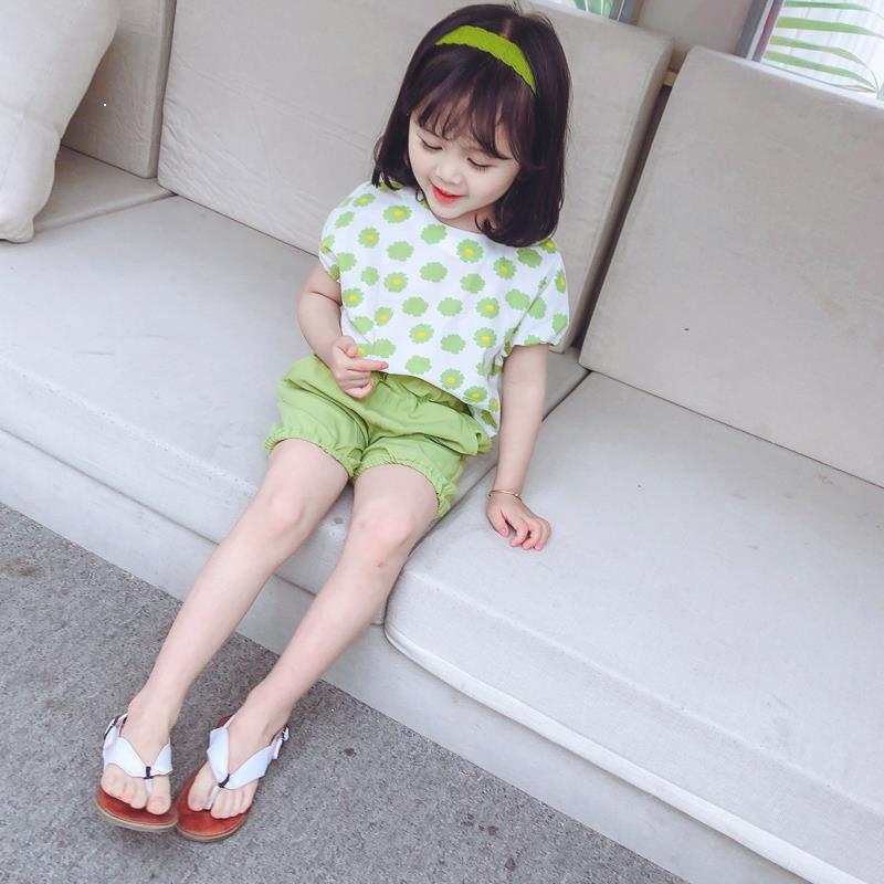 ailie860210 女寶寶夏裝網紅套裝小童兩件套2021年新款洋氣女童裝兒童短褲時尚