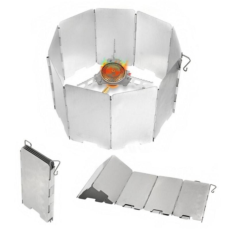 戶外露營烹飪爐灶燃氣灶擋風板 9板擋風板 可折疊