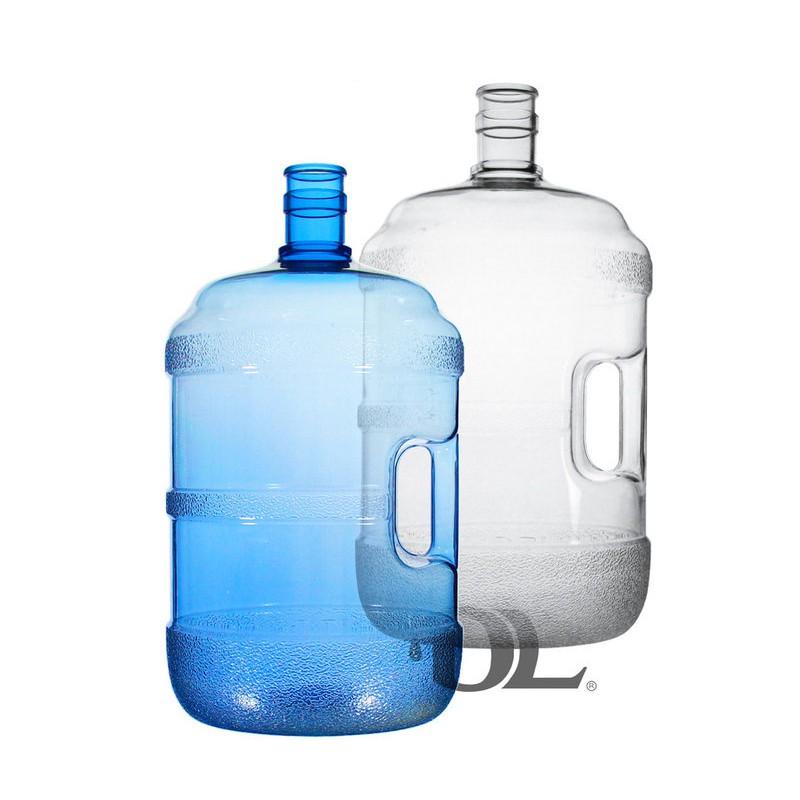 【艾瓦得淨水】台灣製造PC蒸餾水桶5加侖 20公升- 把手~4加侖 16公升 食品級原料~桶裝水~藍色/透明水桶