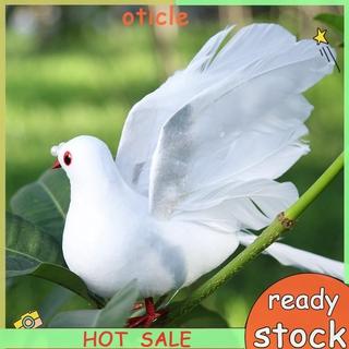 [oticle]和平鴿仿真白鴿婚慶商場裝飾羽毛鴿子綠植綁樹枝展翅鴿(8916小飛鴿)