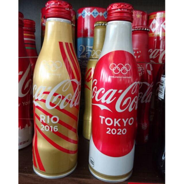 YUMO家 現貨  2016~2020日本出東京奧運 可口可樂鋁瓶 滿瓶/