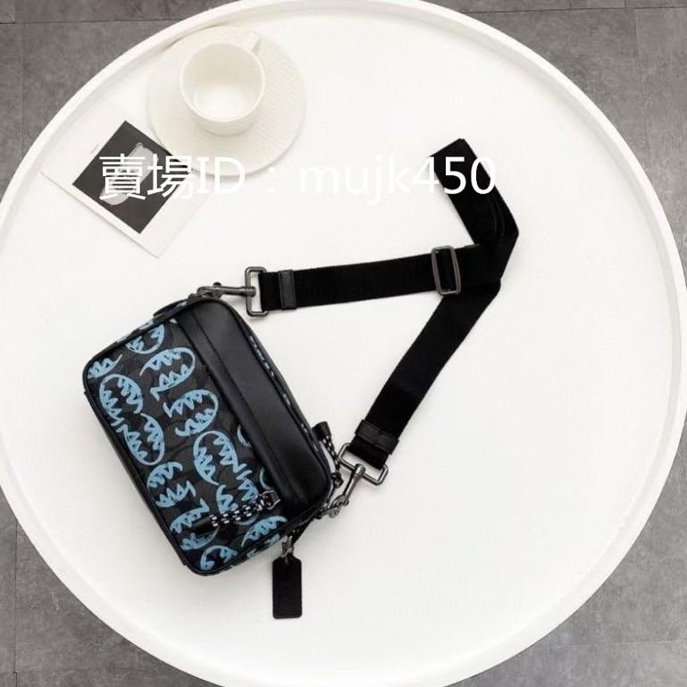 全新正品 COACH 蔻馳 胸包 相機包 小方包 斜挎包 肩背包 側背包 單肩包 女士包包 經典老花