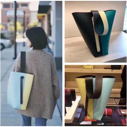 【靜香二手】Celine Twisted Cabas 拼色可調節 手提包 水桶包 多色選擇 98新