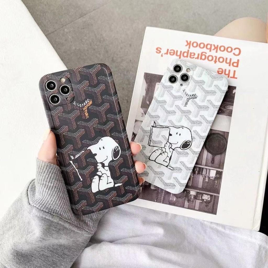 可愛卡通史努比 潮流戈雅手機殼 適用於iPhone12 i7 iX Xs XR Apple12 蘋果11 同款耳機保護套