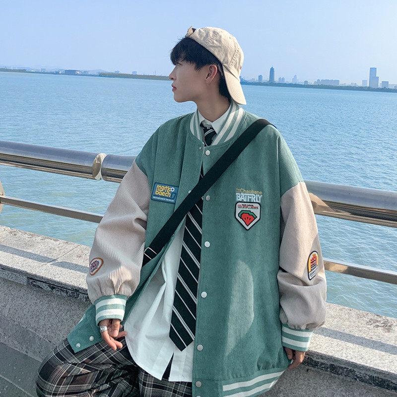 (防疫)美式hiphop炸街棒球服男春秋外套ins潮牌vibe風寬松秋裝痞帥夾克20210818