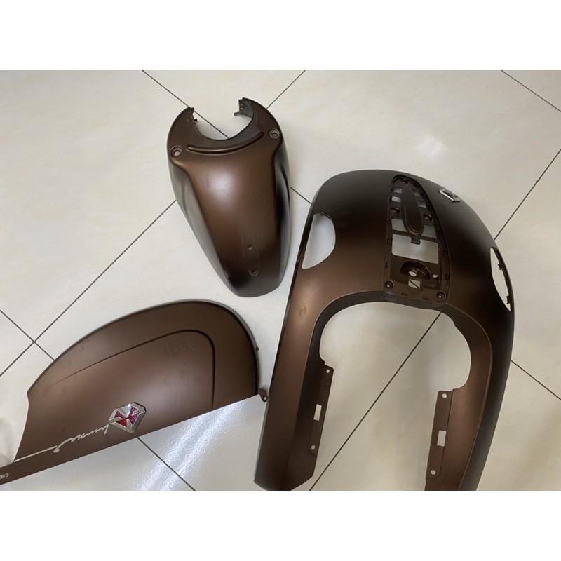 ❤️嘉義自售❤️ Many110 水鑽版 原廠車殼 消光 可可色 深棕色 3件組